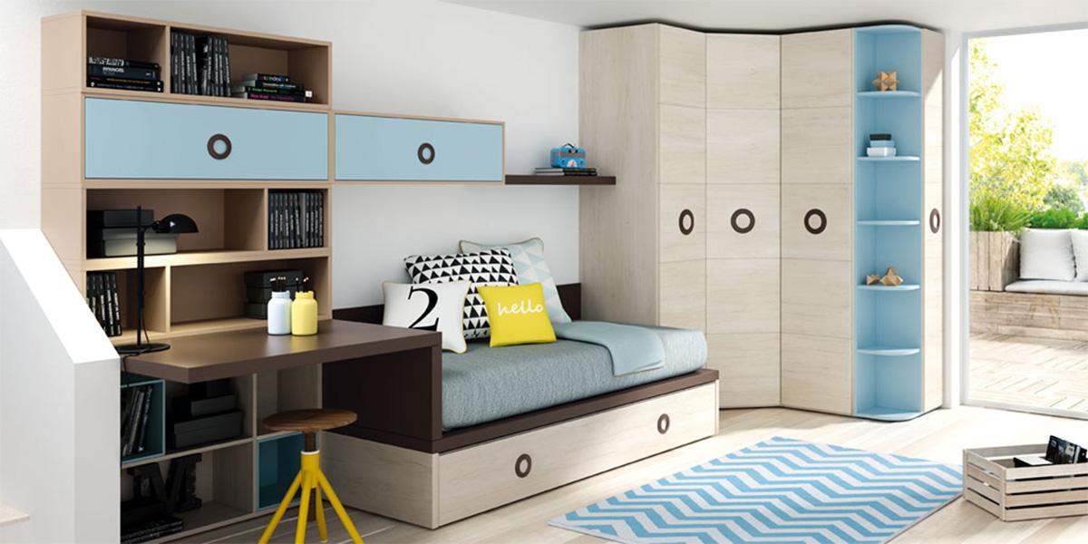 MGarciaNieto Lagrama Mobiliario para el Hogar Dormitorios Juvenil Serie Flandes
